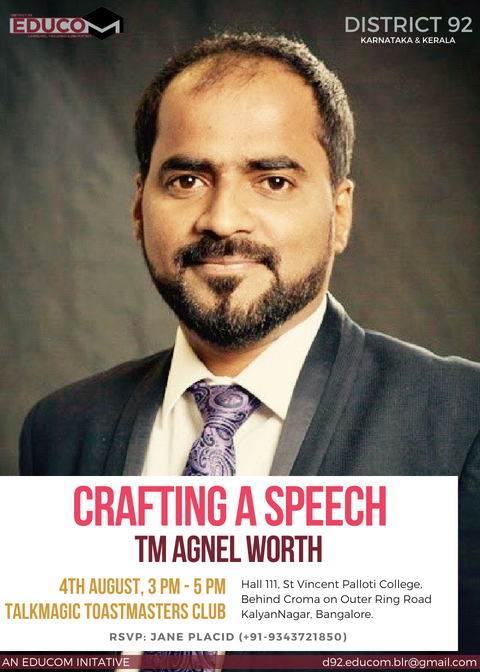 EduCom Session – Crafting a Speech by Agnel Worth